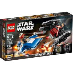 LEGO A-Wing contra TIE Silencer Microfighters - LEGO 75196 (Star Wars)