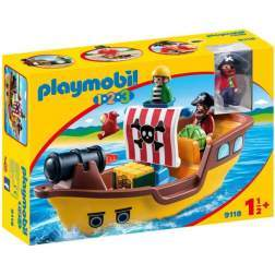 Set Playmobil 1.2.3 - Barca Piratilor 9118