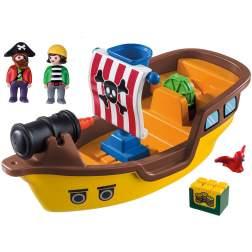 Set Playmobil 1.2.3 - Barca Piratilor 9118