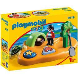 Set Playmobil 1.2.3 - Insula Piratilor 9119