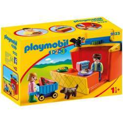 Set Playmobil 1.2.3 - Magazin 9123