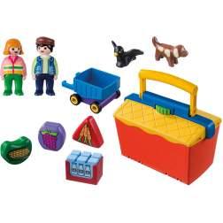 Set Playmobil 1.2.3 - Magazin 9123