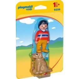 Set Playmobil 1.2.3 - Baiat Cu Catel 9256