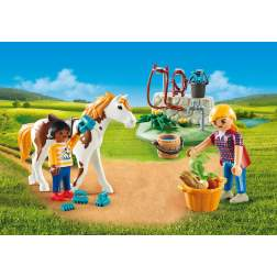 Set Playmobil Country - Set Portabil - Copii Cu Cal 9100