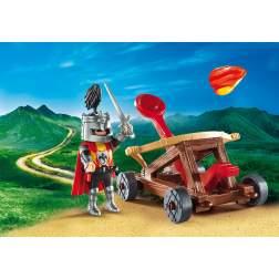 Set Playmobil Knights - Set Portabil - Caveler Cu Catapulta 9106