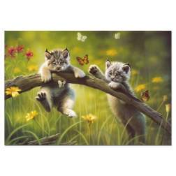 Puzzle Educa - Baby Lynxes, 500 piese, include lipici puzzle (13413)