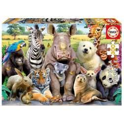 Puzzle Educa - Animal Selfie, 300 piese (15908)