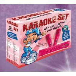 Set Karaoke Cu Microfoane - Studio PRO Pink