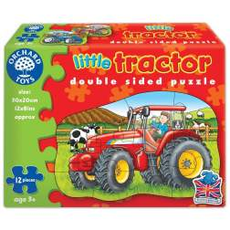 Puzzle fata verso Tractor (12 piese) LITTLE TRACTOR