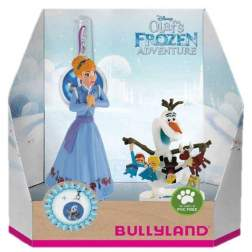 Set figurine Bullyland - Anna+Olaf cu medalion - Olafs Frozen Adventure