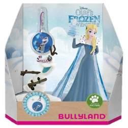 Set figurine Bullyland - Elsa si Olaf cu medalion - Olafs Frozen Adventure