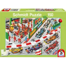 Puzzle Schmidt - What Happens At A Car Race?, 150 piese (56288)