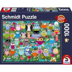 Puzzle Schmidt - Collage Of Owls Ii, 1.000 piese (58332)