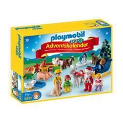 Set Playmobil 1.2.3 - Calendar Craciunul La Ferma 9009