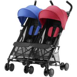 Carucior sport dublu Britax-Romer Holiday DOUBLE, Red/Blue