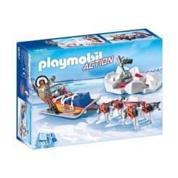 Set Playmobil Action - Sanie Trasa De Husky 9057
