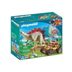 Set Playmobil Dinos - Cercetator - Masina De Teren Si Stegosaurus 9432