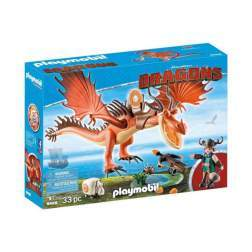 Set Playmobil Dragons - Snotlout Si Hookfang 9459