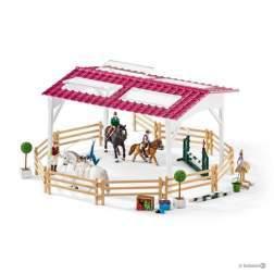 Set figurine Schleich - Scoala De Calarie Cu Calareti Si Cai SL42389