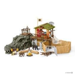 Set figurine Schleich - Statie De Cercetare A Crocodililor Din Jungla SL42350