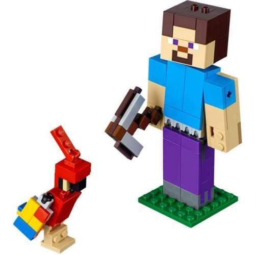 LEGO Minecraft Steve Bigfig Cu Papagal - LEGO 21148 (Minecraft)