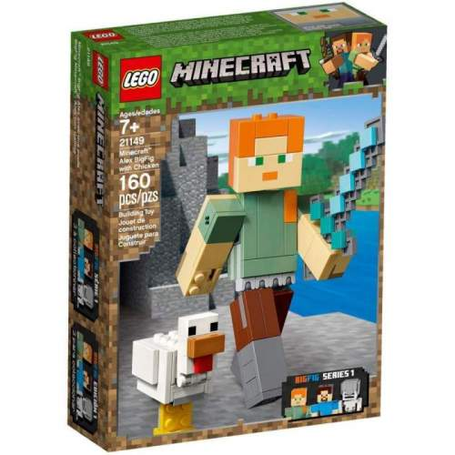 LEGO Minecraft Alex Bigfig Cu Gaina - LEGO 21149 (Minecraft)