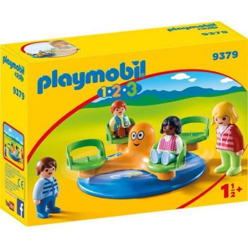Set Playmobil 1.2.3 - Carusel Copii 9379