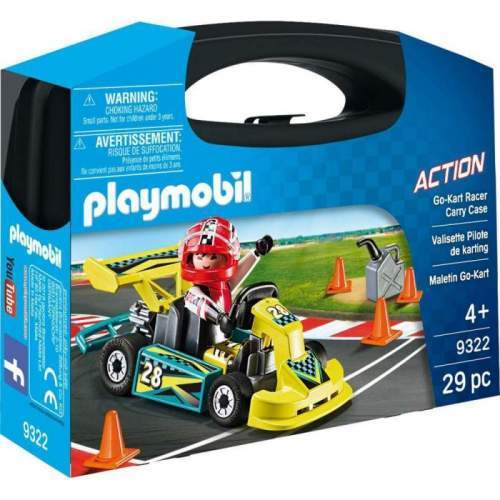 Set Portabil Playmobil Action - Masinuta De Curse 9322