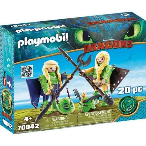 Set Playmobil Dragons - Raffnut Si Taffnut In Costume De Zbor 70042