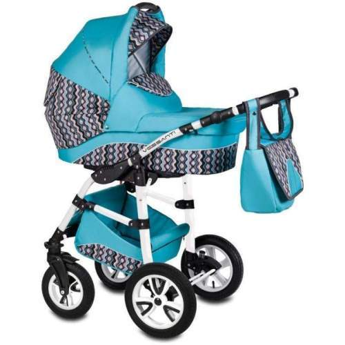 Carucior Flamingo Easy Drive 3 in 1 - Vessanti - Turquoise