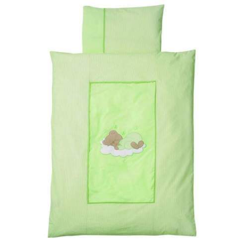 Lenjerie Pat Sleeping Bear Green 100/135 cm