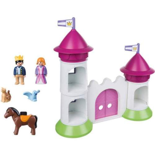 Set Playmobil 1.2.3 - Castel Cu Turnuri 9389