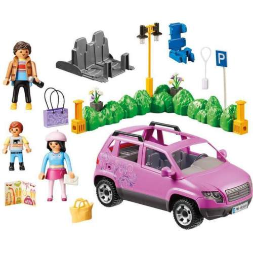 Set Playmobil City Life - Masina De Familie Cu Loc De Parcare 9404