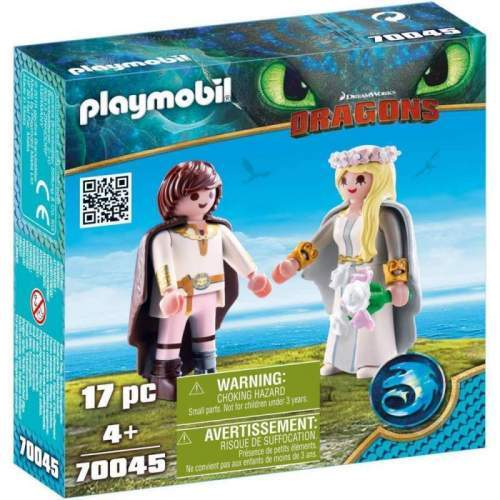 Set Playmobil Dragons - Cuplu Regal Hiccup Si Astrid 70045