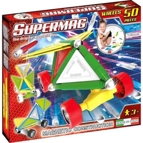 Set Constructie Supermag - Tags Wheels 50 piese