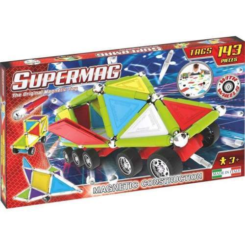 Set Constructie Supermag - Tags Wheels 143 piese