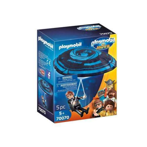 Set Playmobil The Movie - Rex Dasher Cu Parasuta 70070