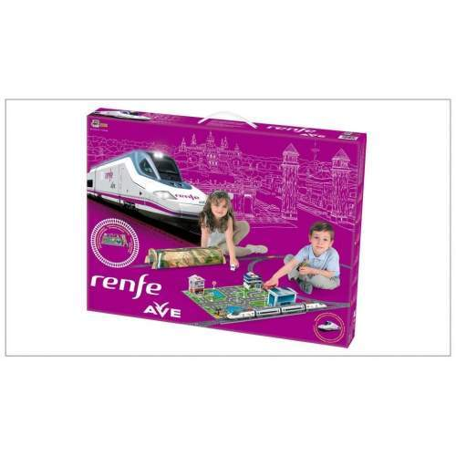 Trenulet electric High Speed RENFE cu statie, tunel si oras