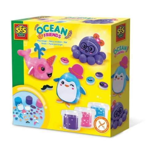 SES Creative Set plastelina - Prieteni Oceanului