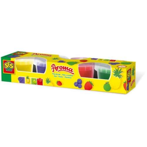 SES Plastelina cu arome 4 culori x 90gr