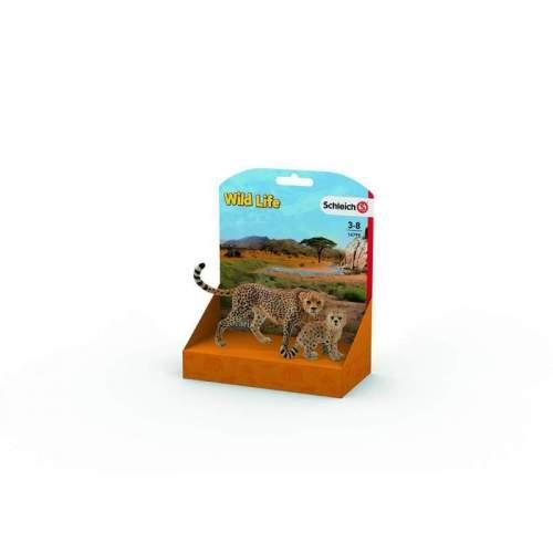 Figurina Schleich - Mama Ghepard si Pui de Ghepard SL14799L