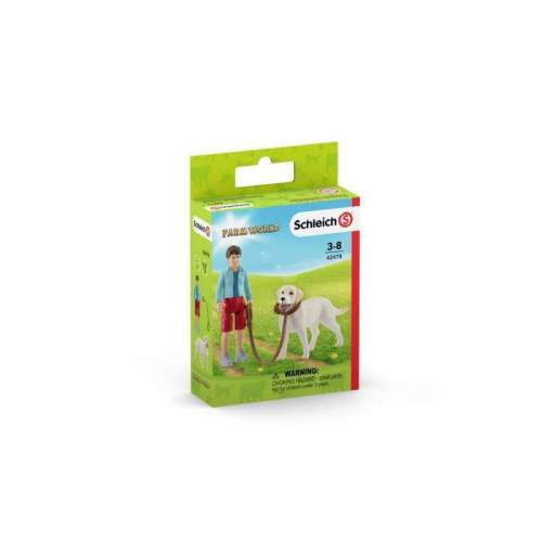 Figurina Schleich - Plimbare cu Labrador Retreiver SL42478