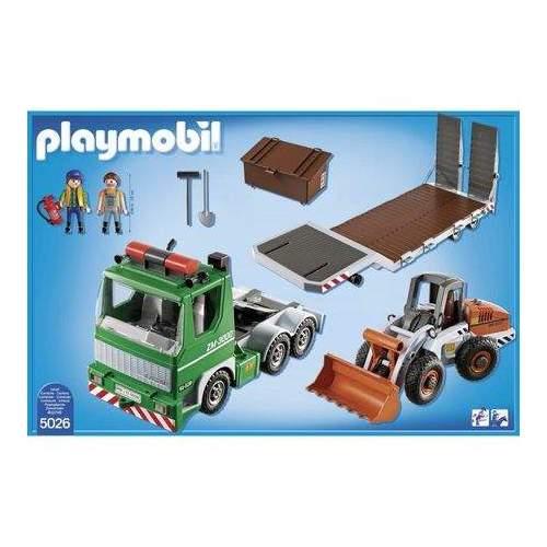 Set Playmobil City Action - Camion Cu Incarcator Frontal 5026