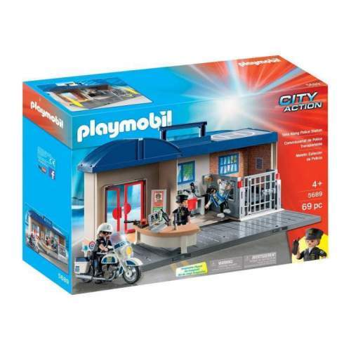 Set Playmobil City Action - Set Mobil Statie De Politie 5689