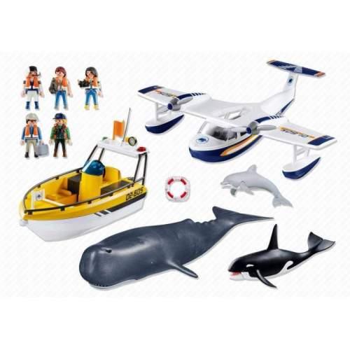 Set Playmobil City Action - Set Avion, Barca Si Balene 5920