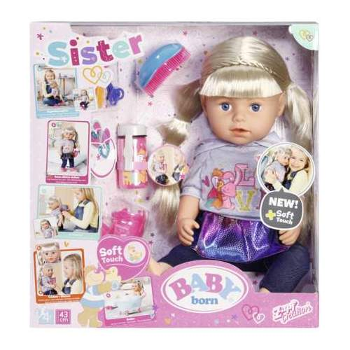 Baby Born-Surioara Interactiva Blonda