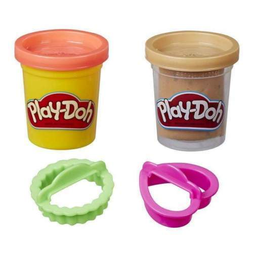 HASBRO Play-Doh Cookie Canister Play Food Set with 2 Non-Toxic Colors (Chocolate Chip Cookie)