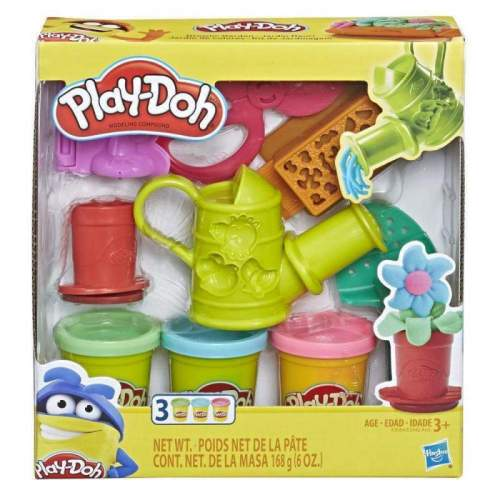 HASBRO Play-Doh Growin' Garden Toy Gardening Tools Set for Kids with 3 Non-Toxic Colors