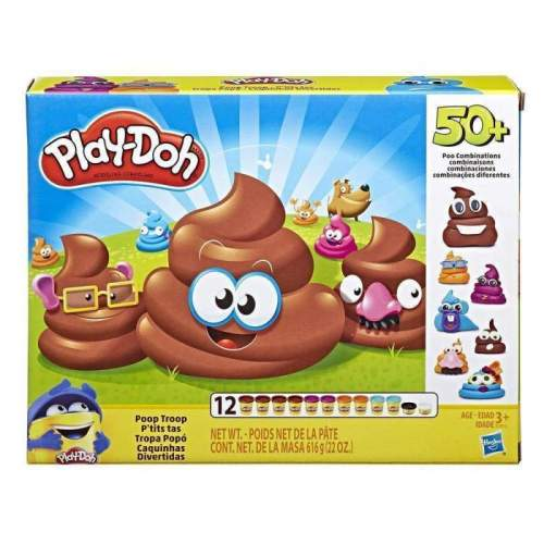 HASBRO Play-Doh Poop Troop Set with 12 Cans