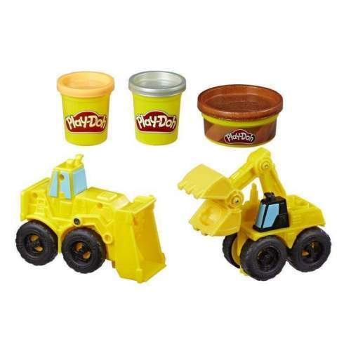 HASBRO Play-Doh Wheels Excavator and Loader Toy Construction Trucks